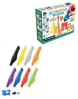 Набор для детского творчества с 3D-ручкой 8 цветов, 3D Creative