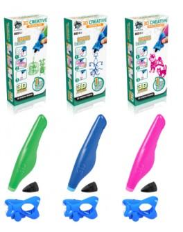 Набор для детского творчества с 3D-ручкой (цвета в ассортименте), 3D Creative