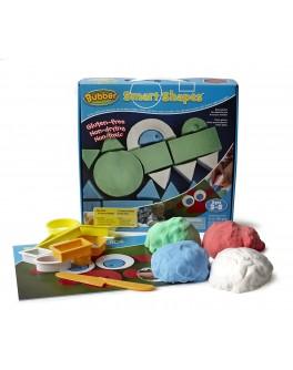 Набор для лепки Bubber Smart Shapes Kit: 4 цвета+формочки