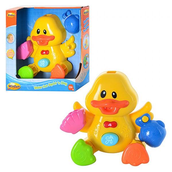 фото  Игрушка для ванной WinFun Музыкальный утенок (7108-NL)  - mpl 7108-NL