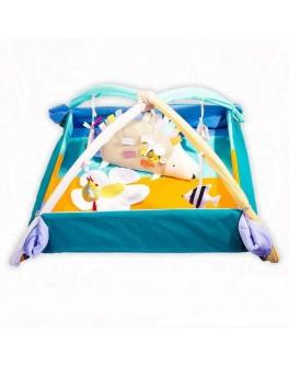 Коврик-манеж с дугами и подвесными игрушками Ежик