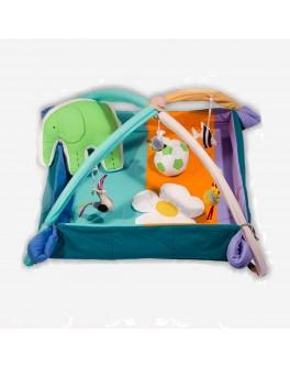 Коврик-манеж с дугами и подвесными игрушками Слоник с мячиком - bbp MMA-KM-SM