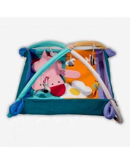 Коврик-манеж с дугами и подвесными игрушками Уточка - bbp MMA-KM-U