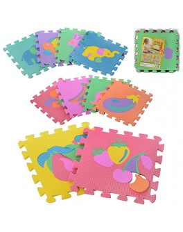 Игровой коврик мозаика Фрукты и животные (M 0376) - mpl M 0376