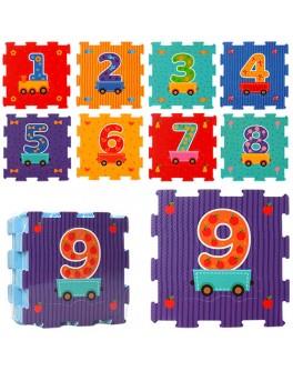 Коврик-мозаика Вагончик с цифрами (M 2614)