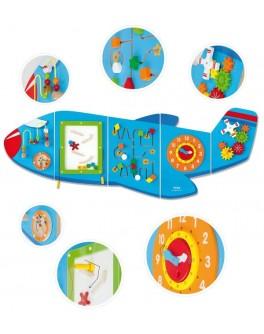 Деревянная игрушка Viga Toys бизиборд Самолет (50673)