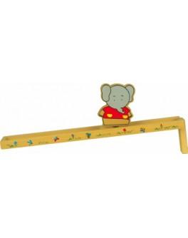 Самодвижущаяся игрушка из дерева Горка Слоник, Мди
