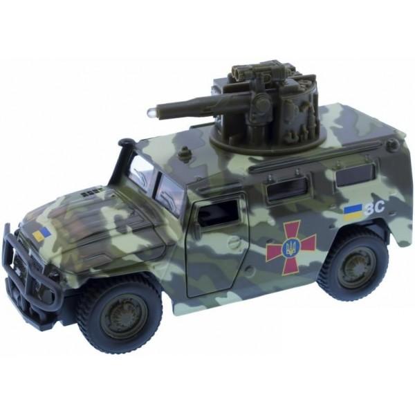 машинка инерционная военный газ тигр, технопарк