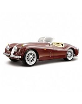 Автомодель - JAGUAR XK 120 (1951) (ассорти вишневый, серебристый, 1:24)