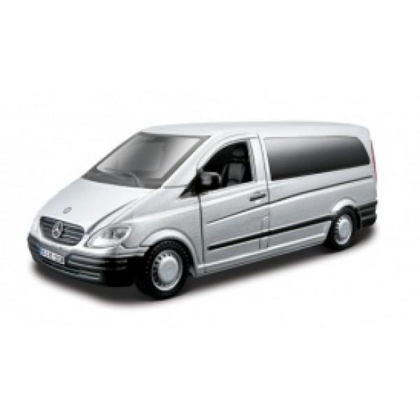 Автомодель - MERCEDES-BENZ VITO (ассорти серебристый, черный , 1:32)
