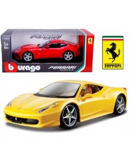 Автомодель - FERRARI 458 ITALIA (ассорти желтый, красный, 1:24) - KDS 18-26003