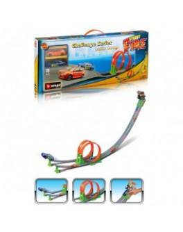 Игровой набор - ТРЕК СКОРОСТНАЯ ПЕТЛЯ (2 дорожки + 2 машинки) - KDS 18-30070