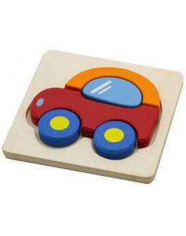 Деревянная рамка-вкладыш Машинка Viga Toys (50172) - afk 50172