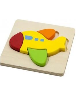 Деревянная рамка-вкладыш Самолет Viga Toys (50173)