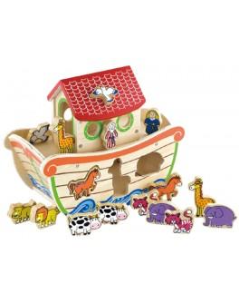 Деревянная игрушка-сортер Viga Toys Ноев ковчег (50345) - afk 50345