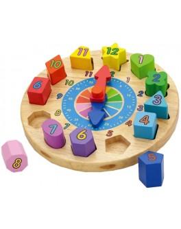 Деревянная игрушка пазл Viga Toys Часы (59235VG)