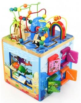 Куб логический деревянный Е 21386