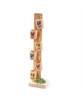 Деревянная игрушка Ведерки с шариками №1, Мди - Der 110