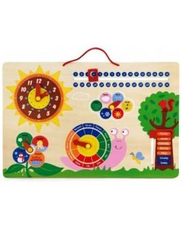 Деревянная игрушка Viga Toys Календарь и Часы (50380)