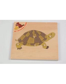 Деревянная игрушка Черепаха Рамка-вкладыш, Мди - Der p90