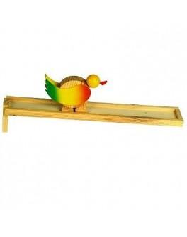 Самодвижущаяся игрушка из дерева Горка Утка, Мди - Der 107