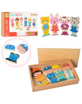 Деревянная игрушка фигурка-магнит (MD 1024) - mpl MD 1024