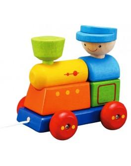 Деревянная игрушка Поезд-сортер Plan Toys (5119) - plant 5119