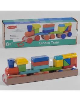 Дерев'яна каталка-конструктор Поїзд (С 39271)