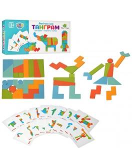 Дерев'яна логічна гра Танграм Мозаїка (MD 2447)