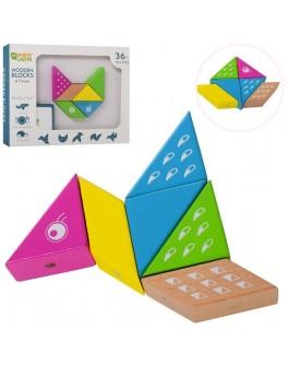 Дерев'яна магнітна іграшка Muqiy Toys Геометрика (MD 2040)