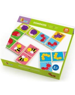 Іграшка з дерева Доміно Viga Toys Комахи (50127) - afk 50127