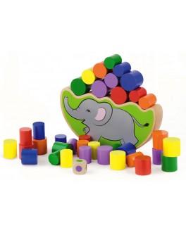 Деревянная игрушка Viga Toys Балансирующий слон (50390)