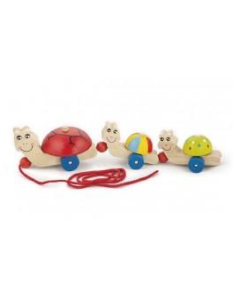 Деревянная каталка Viga Toys Черепашки (59949) - afk 59949