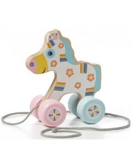 Деревянная игрушка Cubika Лошадка-каталка (12015) - cub 12015