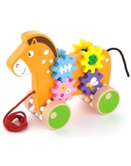 Деревянная игрушка-каталка Viga Toys Лошадка (50976) - afk 50976