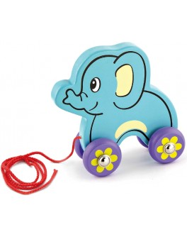 Деревянная игрушка-каталка Viga Toys Слоник (50091) - afk 50091