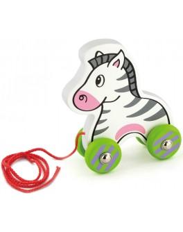 Деревянная игрушка-каталка Viga Toys Зебра (50093) - afk 50093