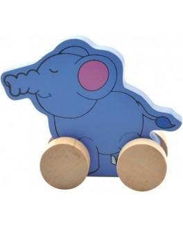 Деревянная каталка Слон, Мди - der 300
