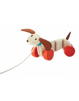 Деревянная каталка счастливый щенок Plan Toys (5101) - plant 5101