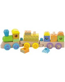 Деревянная игрушка конструктор Viga Toys Поезд (50572)