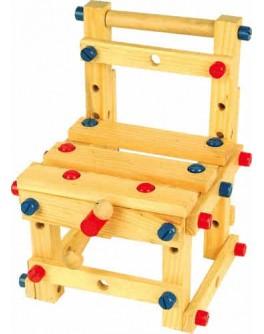 Деревянный конструктор Стул малый, Мди - Der 053