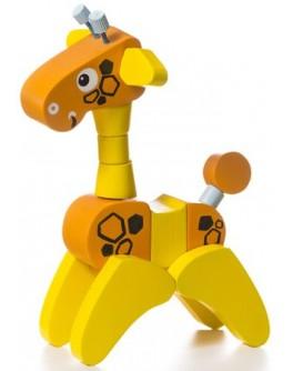 Деревянная игрушка Cubika Жираф-акробат (12541) - cub 12541