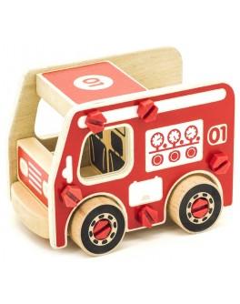 Деревянный конструктор Пожарная машина, Мди - der 430