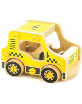 Деревянный конструктор Такси, Мди - der 427