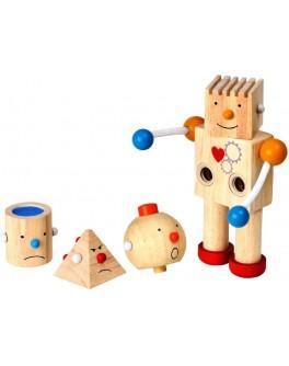 Деревянная игрушка Конструктор робот Plan Toys (5183) - plant 5183