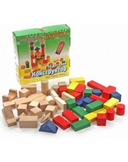 Деревянный конструктор кубики на 50 деталей, МДИ - Rud 049
