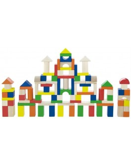 Деревянный конструктор кубики Viga Toys Город 100 шт (50334) - afk 50334