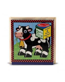 Деревянные кубики Ферма, Melissa & Doug - MD 775