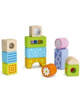 Дерев'яний конструктор кубики Viga Toys Брязкальця (50682) - afk 50682
