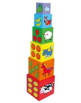 Деревянные кубики Viga Toys Пирамидка (59461)